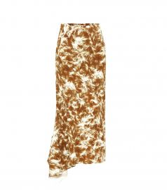 PRINTED JERSEY MIDI SKIRT victoria beckham at My Theresa