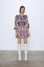PRINTED MINI DRESS at Zara
