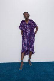 PRINTED OVERSIZED DRESS at Zara