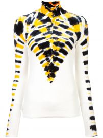 PROENZA SCHOULER LONG SLEEVE TIE DYE TURTLENECK - YELLOW at Farfetch