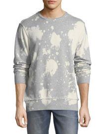 PRPS Bleached Distressed-Edge Sweatshirt at Neiman Marcus