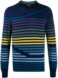 PS Paul Smith striped-pattern Crew Neck Jumper - Farfetch at Farfetch