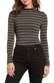 PST by Project Social T Metallic Mock Neck Stripe Top   Nordstrom at Nordstrom