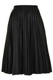 PU Pleated Skirt at Topshop