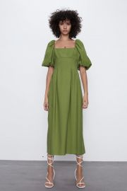 PUFFY SLEEVED DRESS at Zara