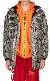 PYTHON-PRINT PUFFER COAT  at Barneys