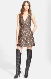 Pacey V-Neck Metallic Brocade Dress and Alice and Olivia at Nordstrom