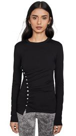 Paco Rabanne Black Long Sleeve Top at Shopbop