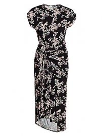 Paco Rabanne - Floral Wrapped Midi Dress at Saks Fifth Avenue