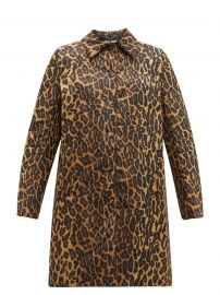 Padded leopard-print technical-twill coat at Matches