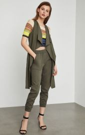 Paige Chambray Long Vest at Bcbgmaxazria