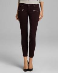 Paige Denim Jeans - Jane Zip Skinny in Black Cherry at Bloomingdales