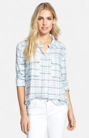 Paige Denim and39Trudyand39 Oversized Button Front Shirt at Nordstrom
