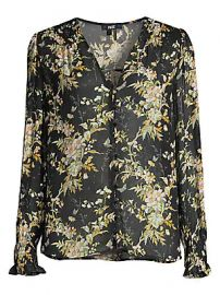 Paige Jeans - Calliope Floral Blouse at Saks Fifth Avenue