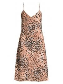 Paige Jeans - Cicely Silk Faded Leopard Print Dress at Saks Fifth Avenue