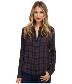 Paige Mya Shirt Velvet PlumBlack at Zappos
