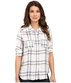 Paige Mya Shirt White Blue Sapphire at 6pm