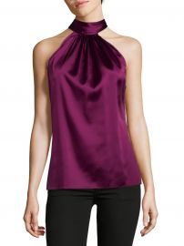 Paige Silk Tie-Neck Blouse at Saks Off 5th