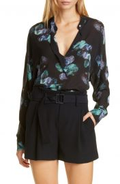 Painted Floral Silk Blouse at Nordstrom