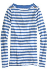 Painter boatneck tee in stripe at J. Crew