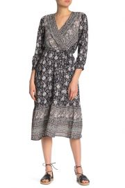 Paisley & Floral Wrap Dress at Nordstrom Rack