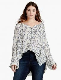 Paisley Border Printed Top at Lucky Brand