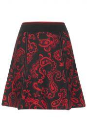 Paisley Jacquard Skirt at Topshop