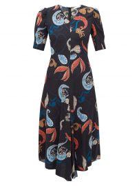 Paisley-Print Dipped-Hem Crepe Dress by See by Chloe at Matches