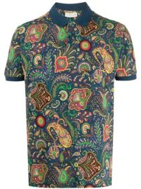 Paisley Print Polo Shirt by Etro at Farfetch