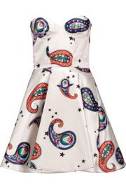 Paisley Print Satin Mini Dress by Msgm at Farfetch