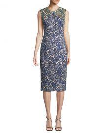 Paisley-Print Sleeveless Midi Sheath Dress by Diane von Furstenberg at Bergdorf Goodman