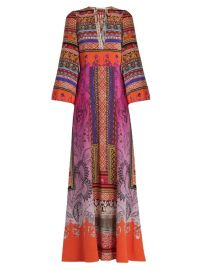 Paisley-print tie-neck gown at Matches