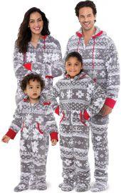 PajamaGram Family Pajamas Matching Sets - Nordic Fleece Christmas Onesie  Gray at Amazon