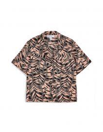 Palm Print Bowler Shirt by Topshop at Yoox