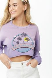 Palm Springs Graphic Sweatshirt by Forever 21 at Forever 21