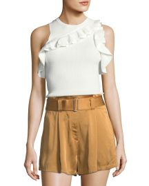 Palmer Sleeveless Rib-Knit Top  at Neiman Marcus