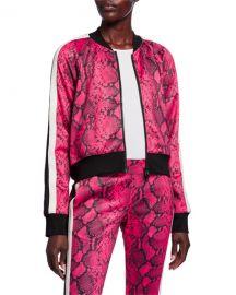 Pam  amp  Gela Baby Boa Cropped Track Jacket at Neiman Marcus