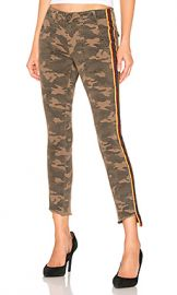 Pam  amp  Gela Camo Side Stripe Pant in Army from Revolve com at Revolve