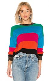 Pam  amp  Gela Crop Striped Sweater in Multicolor from Revolve com at Revolve