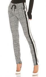 Pam  amp  Gela Glen Tart Cigarette Pant in Glen Plaid Print from Revolve com at Revolve