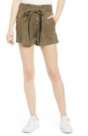 Pam  amp  Gela Paperbag Waist Tie Front Shorts   Nordstrom at Nordstrom