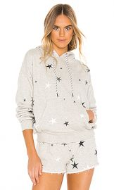 Pam  amp  Gela Pleat Back Star Hoodie in Heather Grey from Revolve com at Revolve