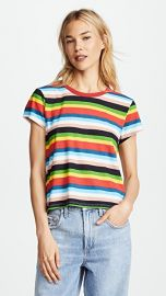 Pam  amp  Gela Rainbow Stripe Tee at Shopbop