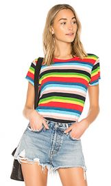 Pam  amp  Gela Rainbow Stripe Tee in Multi from Revolve com at Revolve