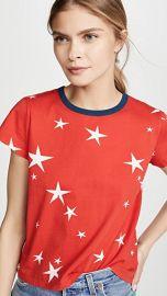 Pam  amp  Gela Star Print Logo Crop Tee at Shopbop