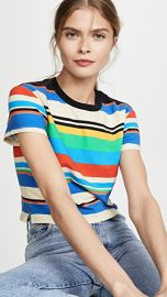 Pam  amp  Gela Stripe Crew Tee at Shopbop