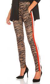 Pam  amp  Gela Tiger Cigarette Track Pant in Natural from Revolve com at Revolve