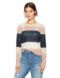 Pam  amp  Gela Women s Multi Stripe Sweater at Amazon