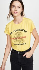 Pam  amp  Gela Yellow Logo Crop Tee at Shopbop