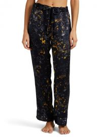 Pamela Floral Silk Pajama Pants by Raven & Sparrow by Stephanie Seymore at Barneys